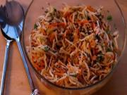 Turnip and Carrot Slaw with Sesame Ginger Vinaigrette