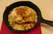 Applebee Style Blondies with Vanilla Ice Cream and Maple Walnut Sauce