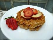 Gluten Free Apple Waffles With Fresh Fruit Salad