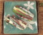 Zucchini with Prosciutto & Mozzarella