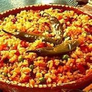 Spanish rice is a staple Mexican dish