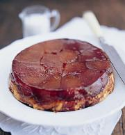 Tarte tatin is a sumptuous dessert food made of apples