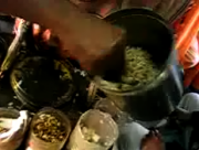 Making Bhel Puri on Indian Trains