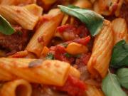 Rigatoni with Sausage and Fresh Marjoram