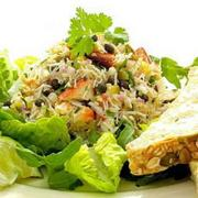 Chile lime crab salad is a perfect main course salad