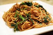Quinoa Linguine with Spicy Broccoli Rabe and Pecans