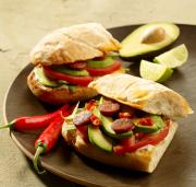 Grilled Chorizo and Avocado Sandwiches