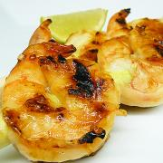 Grilled prawns.