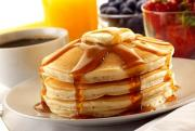 Pancakes eat better with maple syrup