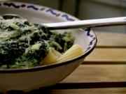 Pasta with Spinach Chiffonade in Chicken Broth