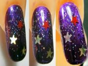 Easy nail art: The night of stars