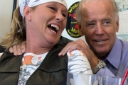Joe Biden cozies up to a woman in Ohio.