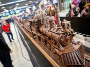 Belgian Chocolate Week showcases chocolate train.