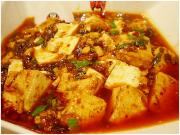 Mapo doufu makes a great combination food.