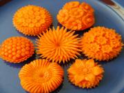 Flower Carving from Carrot