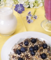 Raw Granola with Almond Milk
