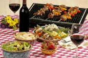 Picnic food recipes are about a variety of foods such as chips, salads and drinks