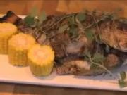 Citrus and Herb Roasted Red Snapper with Grilled Corn and Basil Butter