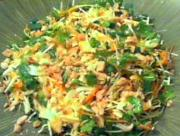 Crunchy Daikon Sprout Asian Slaw