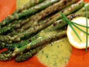 Grilled Spring Asparagus with Lemon Chive Vinaigrette