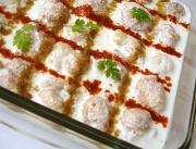 Dahi vada makes a delicious breakfast item