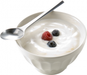Yoghurt is low fat and healthy