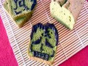 Halloween Frankenstein Matcha Green Tea Pound Cake