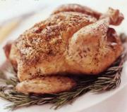 Baking a whole chicken is a healthy way of having this high protein dish