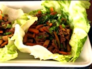 Hoisin Marinated Beef Lettuce Wraps