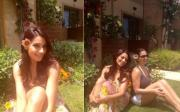 Bipasha enjoying the warm Cypriot sun
