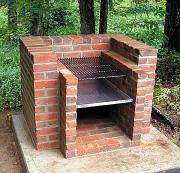 Building a barbeque grill out of bricks