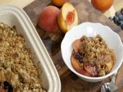 Kary Osmond Peach and Blueberry Crisp