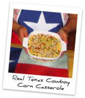 Baked Cowboy Corn Casserole with Jalapenos and Onion