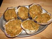 Delicious seafood party appetizer - Baked Stuffed Clams