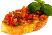Bruschetta served at one of the Italian restaunts in London