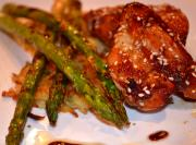 Sesame Chicken with Asparagus