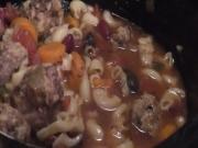 Crockpot Meatball Minestrone