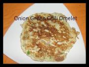 Onions and Green Chili Omelette