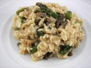 Creamy Asparagus and Mushroom Risotto