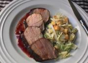 Cocoa Crusted Pork Tenderloin With Sour Cherry Sauce