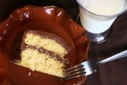 One of Charleston's best restaurants serve chocolate butter cream cake with milk.. yummm