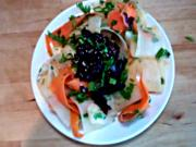 Seaweed Salad with Carrot and Diakon Ribbons