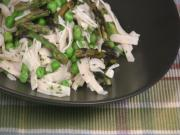 Fettuccine with Grilled Asparagus, Peas and Lemon