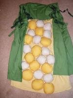 how to make corn cob costume the easy, simple way