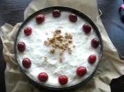 Tofu Dessert With Cherries And Granola
