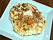 Red Pepper and Cheese Omelette - Spicy Breakfast