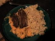 Zuza zak's Weeknight Dinners: Kippers with Sauerkraut Salad and Brown Rice