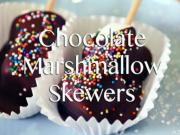 Chocolate Dipped Marshmallow Skewers