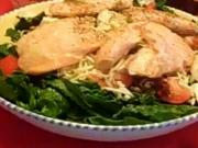 Salmon Spinach Salad from Rosalie Serving Italian Cookbook