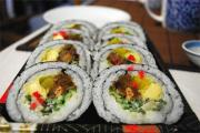 Vegetarian Sushi Roll Part 2  - Assembling